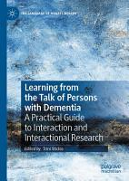 Learning from the Talk of Persons with Dementia PDF