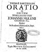 Oratio in obitum Johannis Mulenii