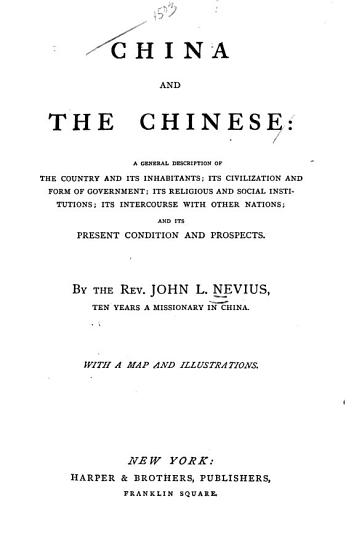 China and the Chinese PDF