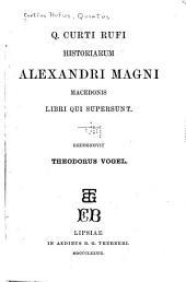 Historiarum Alexandri Magni Macedonis libri qui supersunt