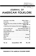 The Journal of American Folklore