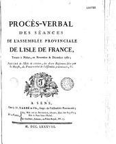 Procès-verbal des séances de l'assemblée provinciale de l'île de France tenues en 1787