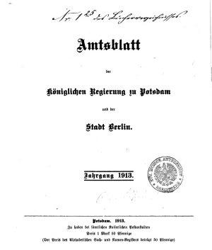 Amtsblatt der Regierung in Potsdam PDF