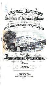 Report: Volume 5, Parts 1876-1877