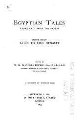 Egyptian Tales: XVIIIth to XIXth dynasty