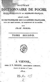 Nouveau dictionnaire de poche francais-allemand et allemand-francais (etc.)