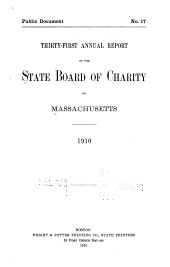 Annual Report of the State Board of Charity of Massachusetts: Volume 31