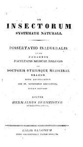 De insectorum systemate naturali. Dissertatio inauguralis, etc