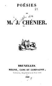 Poésies de Marie Joseph de Chénier