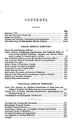 The London and Provincial Medical Directory