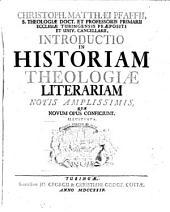 Introductio in historiam theologiae literariam notis illustrata: Volume 1