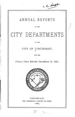 Annual Reports of the City Departments PDF