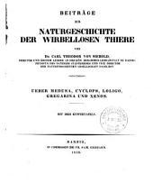 Beiträge zur Naturgeschichte der wirhellosen Thiere: Ueber Medusa, Cyclops, Loligo, Gregarina und Xenos