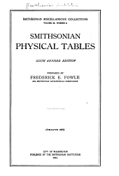 Smithsonian Physical Tables: Volume 63, Issue 6