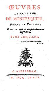 Œuvres de Monsieur de Montesquieu..: Lettres Persanes