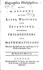 Biographia Philosophica, etc