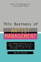 This Business of Artist Management PDF