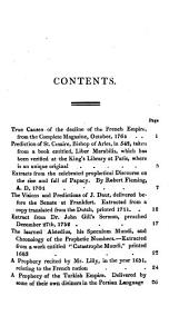 Miraculous Prophecies and Predictions of Eminent Men: From the Earliest Records, Relating to the Revolutions of Empires and Kingdoms, Particularly England and France, with a Picture of the Present Times ...