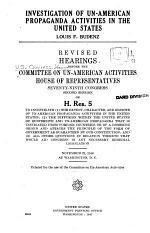 Investigation of Un-American Propaganda Activities in the United States