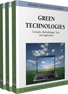 Green Technologies  Concepts  Methodologies  Tools and Applications PDF