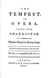 The Tempest, an Opera, 1756