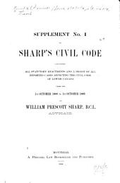 Civil Code of Lower Canada: Issue 1