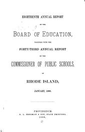Annual Report of the Board of Education: Volume 18