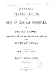 Revised Penal Code and Code of Criminal Procedure: Part 1
