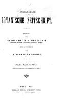 sterreichische Botanische Zeitschrift PDF