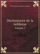 Dictionnaire de la noblesse