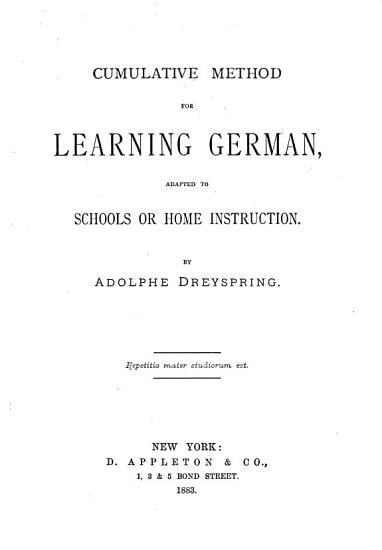 Cumulative method for learning German PDF