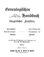 Deutsches Geschlecterbuch: Band 8