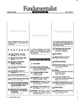 Fundamentalist Journal PDF