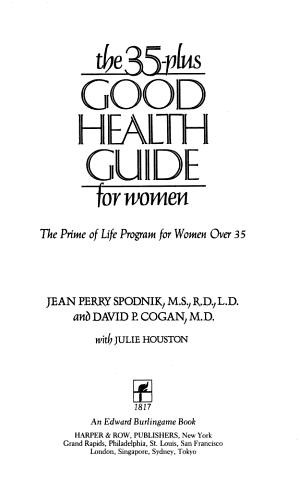 The 35 plus Good Health Guide for Women
