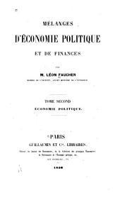 Mélanges d'économie politique et de finances, 2
