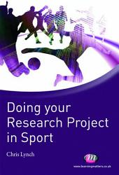 Doing your Research Project in Sport