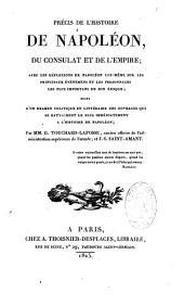 Précis de l'histoire de Napoléon, du Consulat et de l'Empire