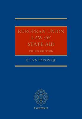 European Union Law of State Aid PDF