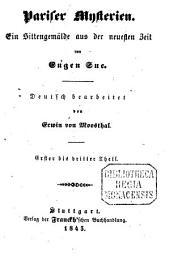 Pariser Mysterien: ein Sittengemälde aus der neuesten Zeit, Bände 1-3