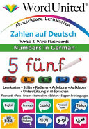 NUMBERS in GERMAN - WRITE and WI PE FLASHCARDS