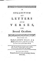 A Collection of Letters and Verses  on Several Occasions PDF