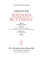 Libretto for Madama Butterfly PDF