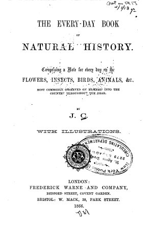 The Everyday Book of Natural History PDF