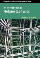 An Introduction to Metametaphysics PDF