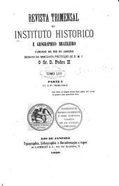 Revista do Instituto Histórico e Geográfico Brasileiro: Volume 53;Volumes 81-82