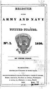 Register of the Army and Navy of the United States: Issue 1; Issue 1830