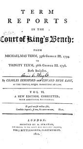 Term Reports in the Court of King's Bench ...