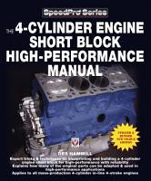The 4 Cylinder Engine Short Block High Performance Manual PDF