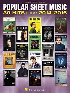 Popular Sheet Music Book
