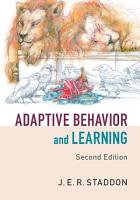Adaptive Behavior and Learning PDF